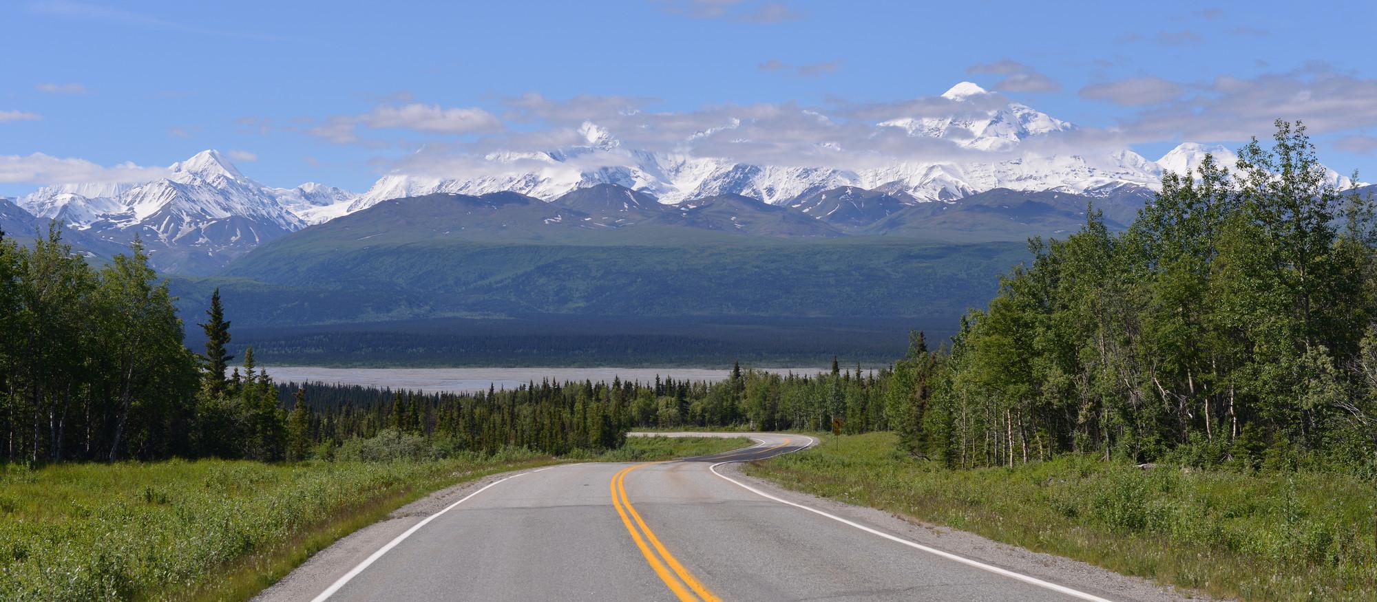 On the road, Alaska