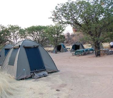 Campo tendato mobile